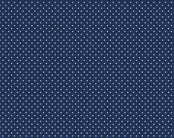 Riley Blake Swiss Dot in Navy, choose your yardage, navy dot fabric, polka dot fabric, navy fabric