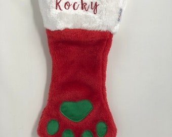 Paw Dog Stocking Personalized with Name