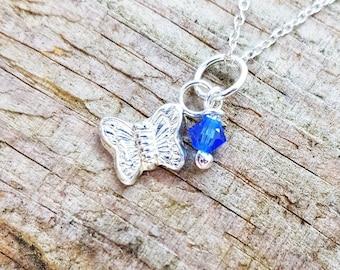 Tiny Flutterby Pendant