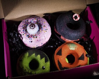 Dreadful Donuts Creepy Cute Bath Bomb Bundle By The Mad Bombers!
