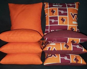 Set Of 8 Virginia Tech Cornhole Bean Bags Top Quality FREE SHIPPING