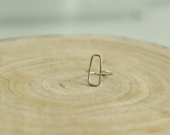 Silver Square Wire Ring