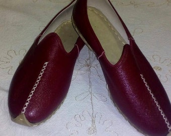 Handmade leather shoes of turkey.