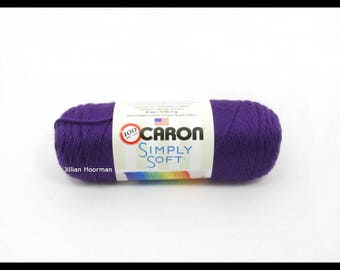 Caron Simply Soft Yarn, Purple, 6oz