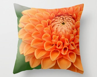 Throw Pillow Case, Orange Bloom by RDelean - Photography, Home Decor, Nature, Flower