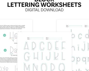 Block Lettering Worksheets