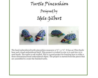 Bead Embroidered Turtle Pincushion