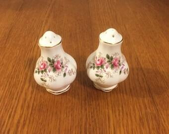 Royal Albert Lavender Rose Salt and Pepper Shaker Set