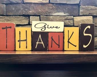Thanksgiving blocks--Give Thanks