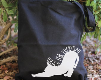 Yoga Is For Everyone - Yoga Tote Bag - Yoga bag - Yoga Tote - Yoga Bag - Tote Bag - Cat Lover - Cat Bag - Yoga Purse - Yoga - Cat Lover Gift