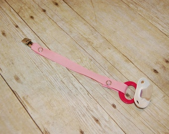 Pacifier Clip, Pink, Personalization Available, Ready to Ship, Free USA Shipping