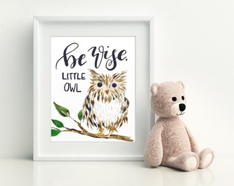 Be Wise Little Owl