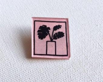 Pink Plant Pin