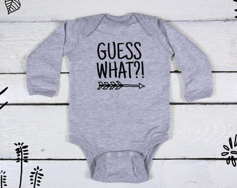 Pregnancy Reveal Onesie, Guess What Baby, Pregnancy Announcement, Guess What Onesie, Surprise We're Expecting, I'm Pregnant, Having A Baby