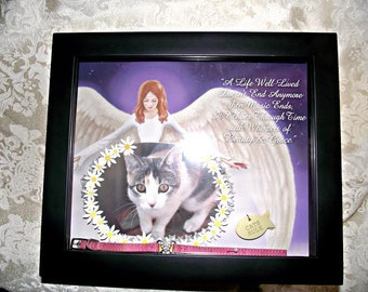 Pet Memorial Angel Shadow box