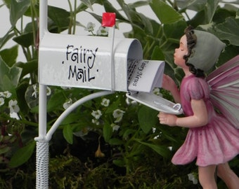 Fairy Garden Accessories Mailbox for Fairy Mail mini newspaper,fairy garden accessory, FAIRY NOT INCLUDED
