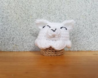 Pupcake amigurumi | puppy cupcake | stuffed amigurumi crochet cupcake