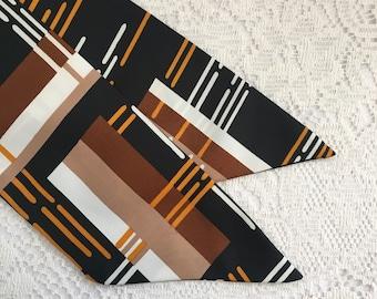 vintage scarf, vintage fabric scarf, acetate scarf, polyester scarf, retro scarf