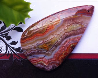 1 pc Designer Red Crazy Lace Agate Pendant, Top Drilled,Drop Shape