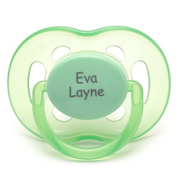 Personalized pacifiers pacidoodle baby boy personalized like this item negle Gallery