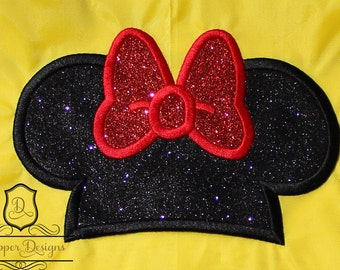 Girl Mouse Hat Machine Embroidery Applique Design