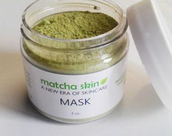 Set of 10 Organic Matcha Green Tea Face Mask