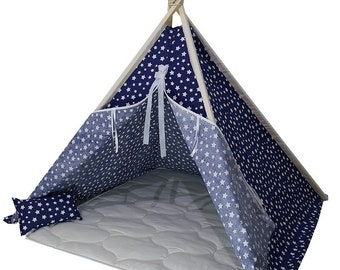 Teepee tent, playtent, natural cotton fabric, teepee tent, kids tent, kids teepee, play tent, play tents, kids play tent, canvas teepee tent