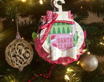 Christmas Scrapbook, Christmas Mini Album, Mini Scrapbook Album, Christmas Album, Scrapbook Mini Album, Personalized Christmas Ornament,