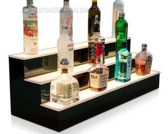 "36"" Home Bar Shelving with LED Color Changing Lights"