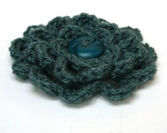 Corsage de fleurs / broche - bleu océan