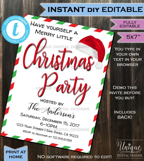 Uniquedigitaldesigns christmas party invitation solutioingenieria Image collections