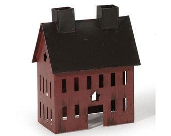 Burgundy Fairy House, Fairy Garden House, Fairy House, Red Tin Fairy House, Miniature House, Rustic house, Mini tin house, Fairy Garden