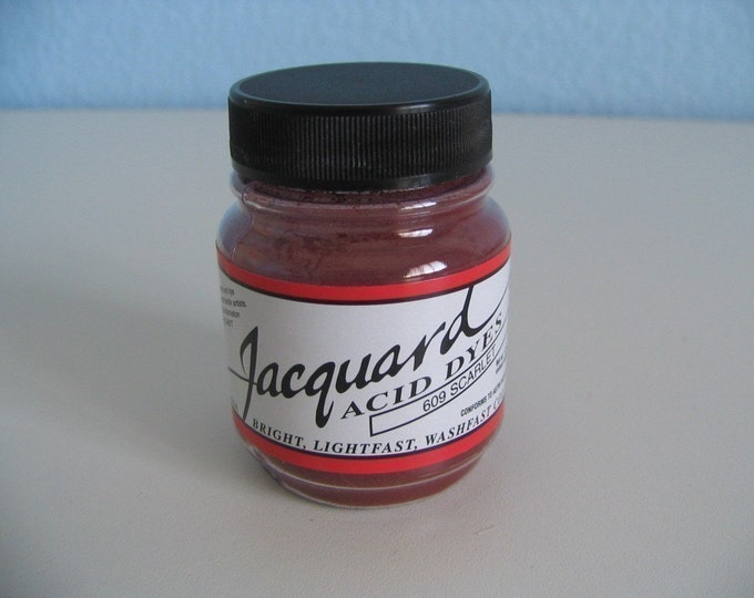 Jacquard Acid Dyes (one .5oz jar for wool, silk, cashmere and most nylons - fix with vinegar and hot water)
