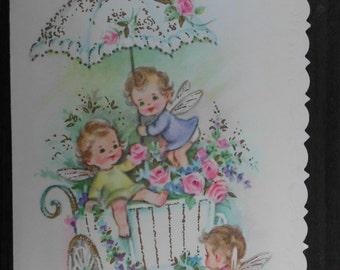 Vintage greeting card/vintage Birthday card/Birthday card