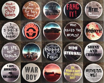 "Mad Max: Fury Road 1.25"" pinback buttons"