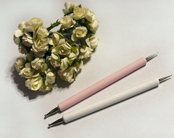 Nail Dotting Tool Pink White Nail Art Manicure Professional Decoration Dotting Pen Tool For All Type Of Nails