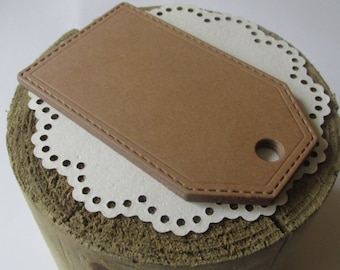 Craft Paper Tags / Rustic Wedding Tags/  Brown Paper Tags/ Blank Tags/Wedding Favor Tags/ Brown Gift Tags/ Kraft Tags/ Wish Tags