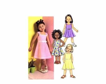 SALE Butterick 4718 Girls Flared Dress Sewing Pattern Size 6 - 7 - 8 UNCUT