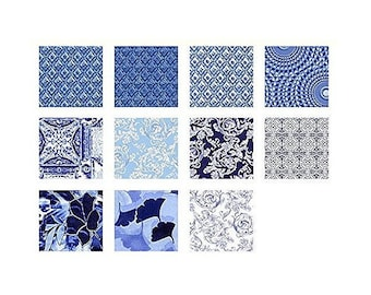 China Blue Charm Pack 42 5-inch Squares Benartex