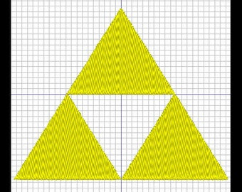 ZELDA - triforce (set of 2) embroidery design