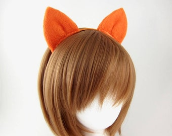 Sale - Fox Ears Headband Orange Fox Ears Costume