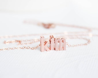 Name Necklace, Rose Gold Name necklace, Personalized Jewelry, Monogrammed gift, Custom necklace , Rose Gold necklace