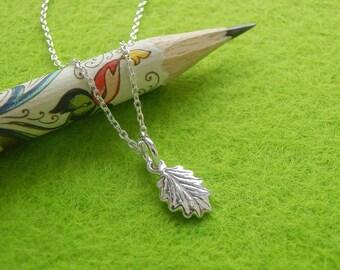 Tiny Salad Burnet Leaf Pendant - Pure Silver Real Leaf Pendant, Small Leaf Charm Pendant, Herb Jewelry