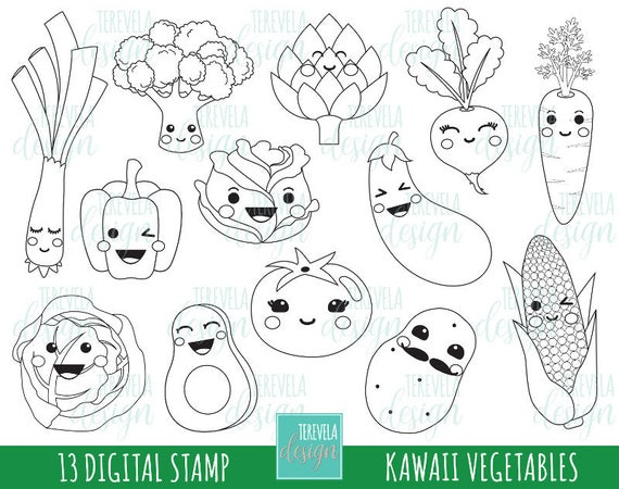 kawaii ausmalbilder essen