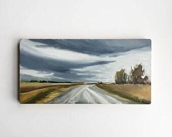 "Gravel Road • original 6x12"" oil painting"