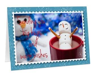 Big Hugs, Warm Wishes Christmas Cards
