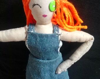 OOAK Doll with Prosthetic Leg