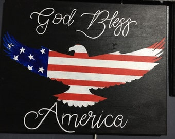 God Bless America Canvas