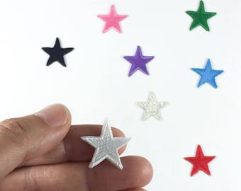 """MINI Star Patches (3) - Iron-on Patches - Choose your color - Three Small Stars - Size: 3/4"""" (P050)"""