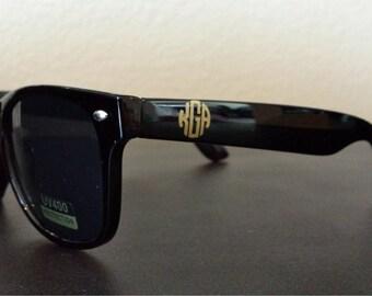 Monogrammed Sunglasses Wayfarer Ladies Sunglasses Monogrammed Gift